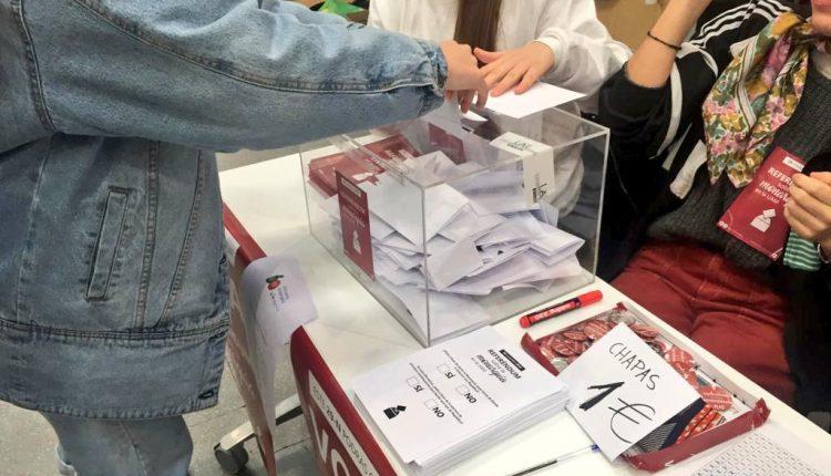 Mesa de votación en la UAM. / ReferendumUAM referéndum UAM