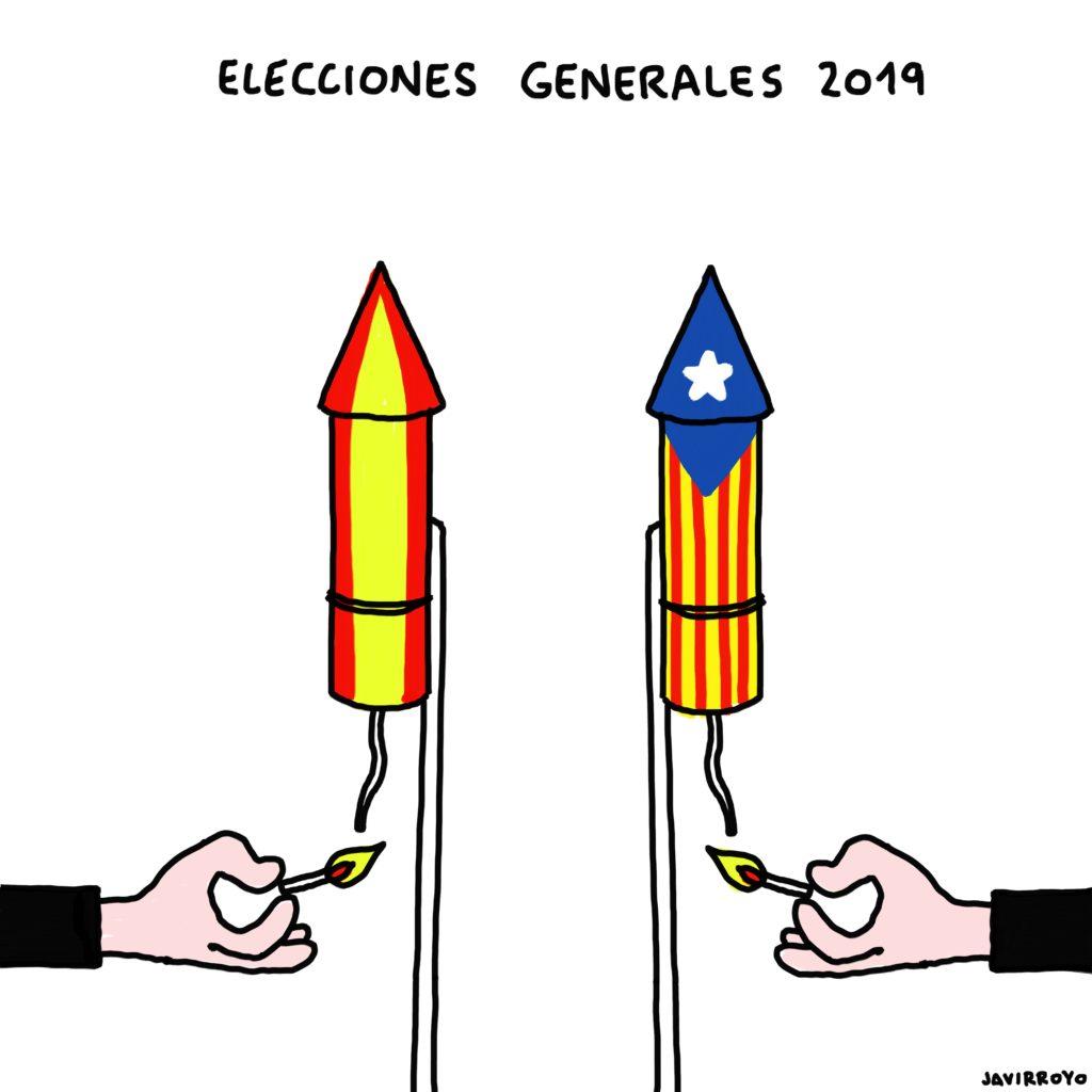viñeta sobre las elecciones generales 2019 de javirroyo