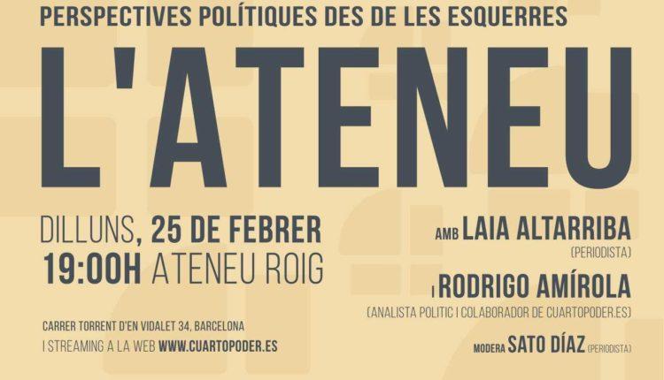 Invitación a la charla de L'Ateneu.