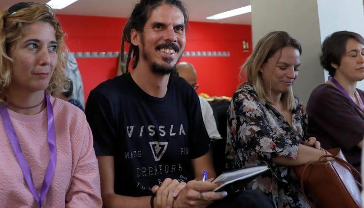 El nuevo secretario de Organización de Podemos, Alberto Rodríguez. EFE/Chema Moya