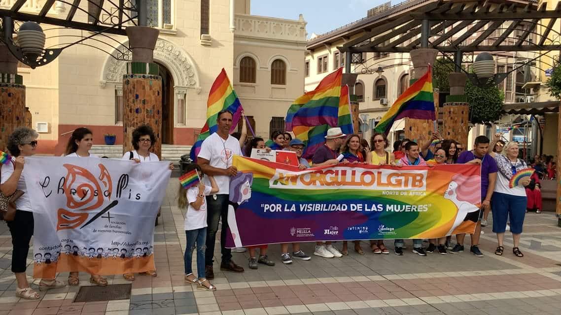 Manifestación del Orgullo del Norte de África en Melilla, el año pasado.