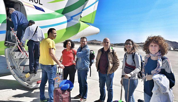 Los representantes catalanes que no pudieron pasar. /Cedida